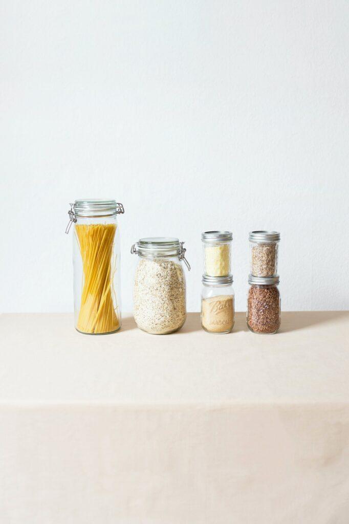 Przechowywanie żywności - szklane opakowania